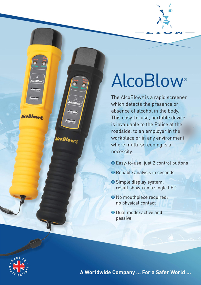 Lion Alcoblow with protective silicone pouch