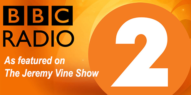 As featured on BBC Radio 2 - Jeremy Vine Show