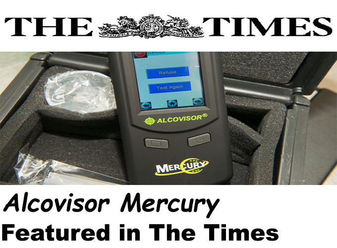 Alcovisor Mercury featured in The Times