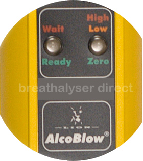 Lion Alcoblow close up of function panel